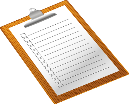 clip board: Clip board with notepad Illustration