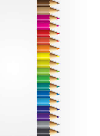backround: Collections of pencils colour with white backround