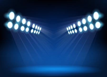 spotlight: Blue spotlights