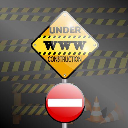 under construction sign: Under construction sign