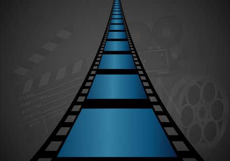 strip design: Film strip design empty box