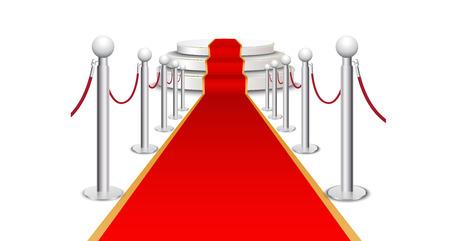 prestige: Red carpet on circular staircase