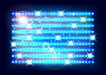 smooth background: Abstract smooth background with glowing rows blue Illustration