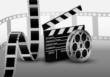 35mm film motion picture camera: Film strip Stock Photo