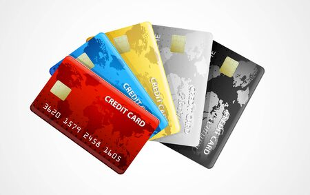 plastic card: collection of credit cards