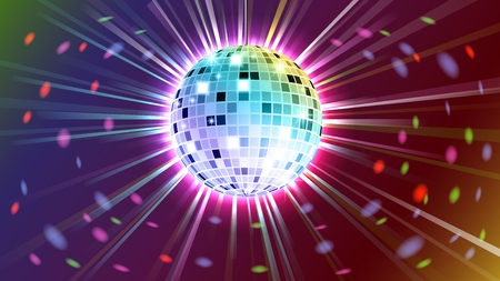 music: Disco ball background