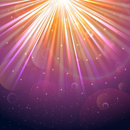 underwater light: Blurred underwater background with rays of light colourful and air bubbles