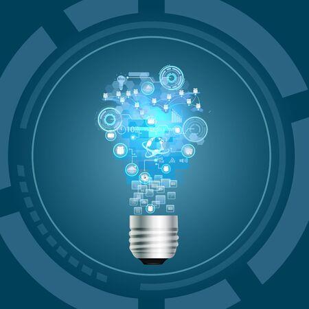 business performance: Light Bulb, Idea concept Stock Photo