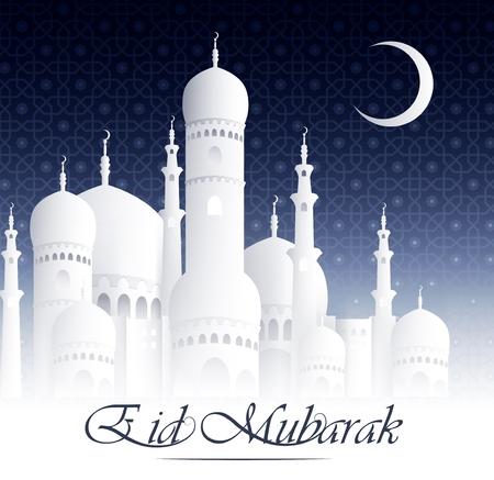 ramzan: Eid Mubarak Happy Eid background with mosque