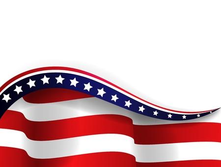 Bandeira americana Ilustração