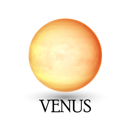 layered sphere: Illustration of Planet venus