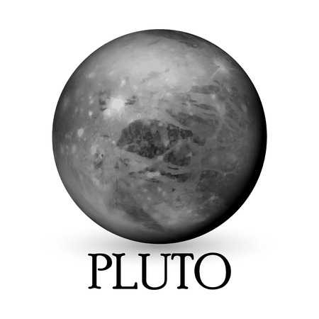 layered sphere: Planet Pluto