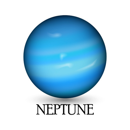 layered sphere: Planet neptune