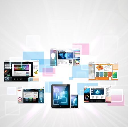 Web page design concept Иллюстрация