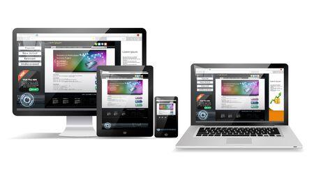 Web page design concept Vectores