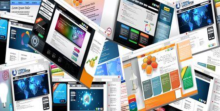 Web page design concept 일러스트