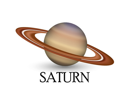 layered sphere: Planet saturn Illustration