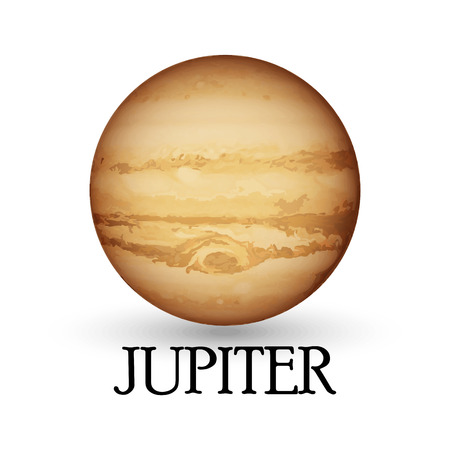layered sphere: Illustration of Planet jupiter