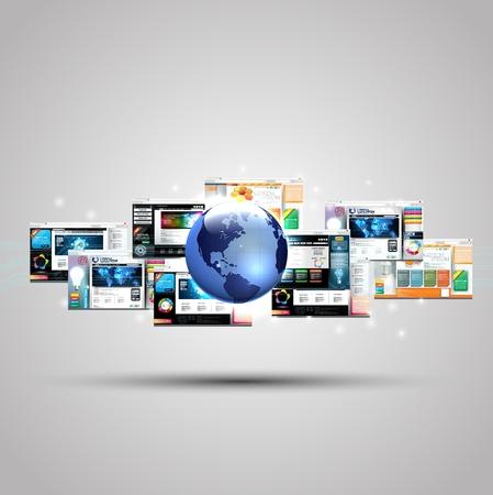 Illustration of Web page design concept