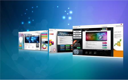 Illustrazione della pagina Web concetto di design Archivio Fotografico - 44611553