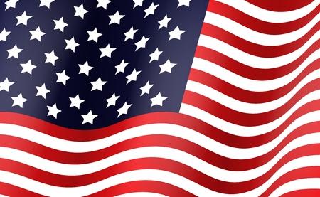us flag: Illustration of American flag