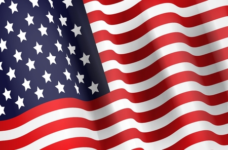 flag of usa: Illustration of American flag