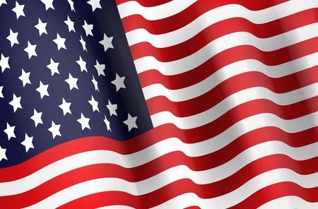 american flag background: Illustration of American flag