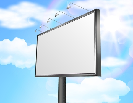 outdoor advertising: Billboard of blank for new advertisement.vector Illustration
