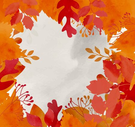 autumn leaves background: Autumn background with dried leaves Stock Photo