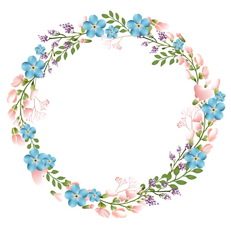 floral frame: Autumn Floral Frame Collections Stock Photo