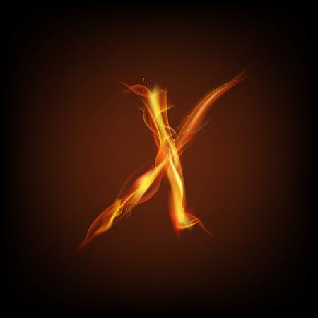 fiery font: Letter of fire