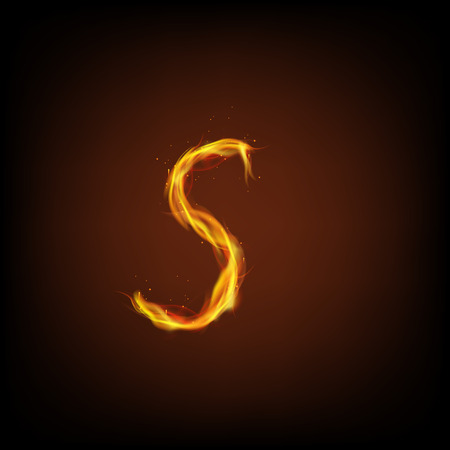fire font: Letter of fire