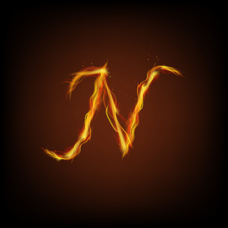 lettre alphabet: Lettre d'incendie Illustration
