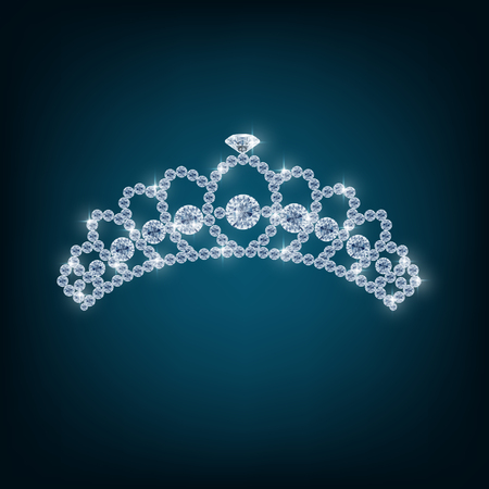 beauty contest: Illustration of Crown with concepts from diamonds