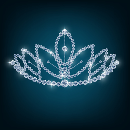 beauty contest: Crown with concepts from diamonds