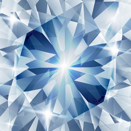 シルバーと概念ダイヤモンド ブルー