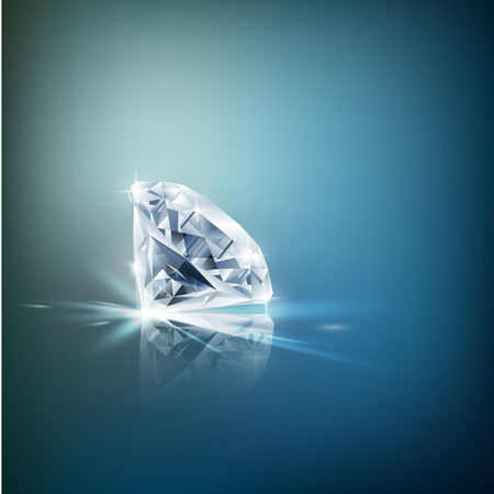 Shiny diamond background Stock Photo