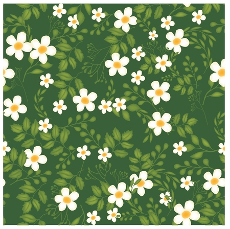 yellow flower: Florals of seamless pattern background