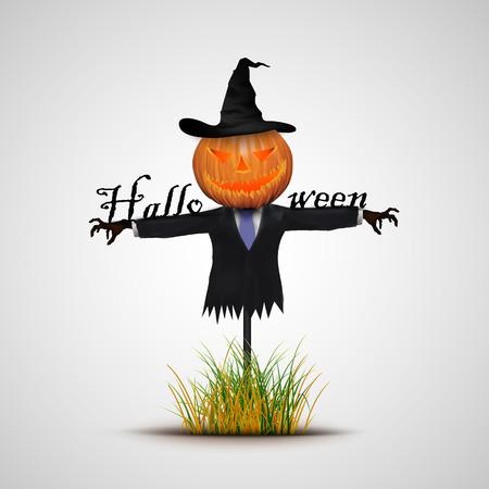 autumn scarecrow: Halloween background scarecrow