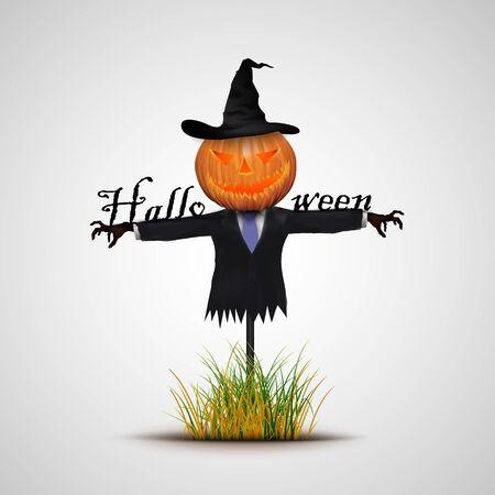 espantapajaros: Fondo de Halloween espantapájaros