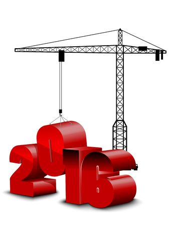 built tower: Construction white background on year 2016