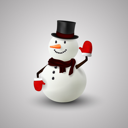 happy christmas: Happy snowman christmas Illustration
