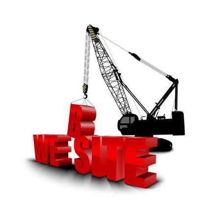 building site: Construction site crane building background