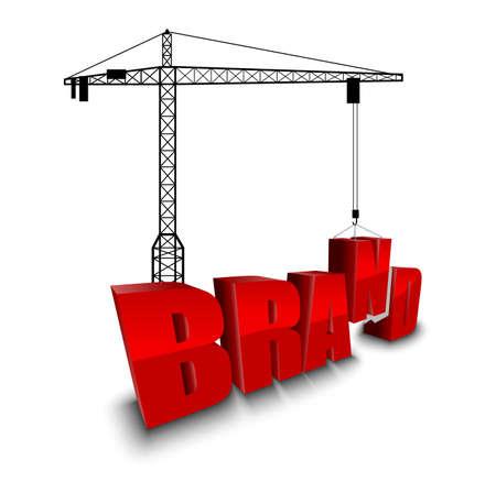 brand activity: Construction site crane building background
