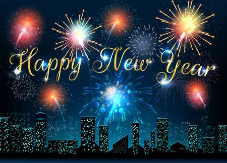 urban background: Happy New Year of urban background