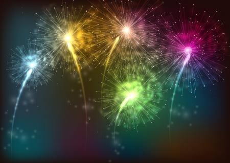 firework: firework. isolated on black background