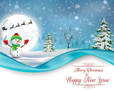bonhomme de neige: Joyeux Noël bonhomme de neige fond Banque d'images