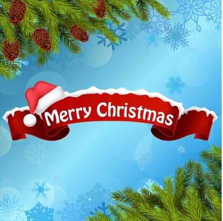 joyeux noel: Joyeux Noël bannière de fond et arbre de Noël