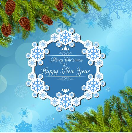 stock price: Merry christmas and happy new year background banner and christmas tree