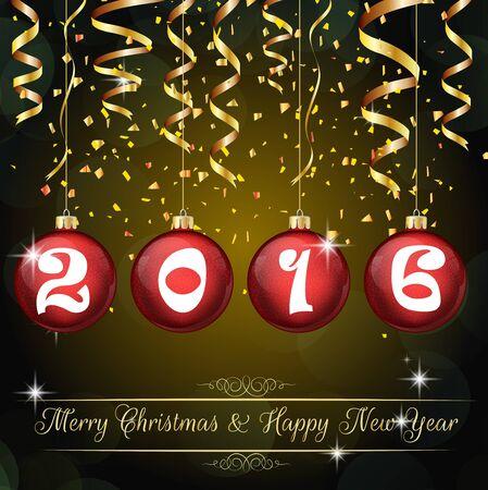 dia y noche: Feliz A�o Nuevo 2016 de fondo